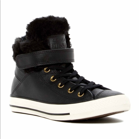Chuck Taylor All Star Faux Fur Leather High Top e9d3ec65a